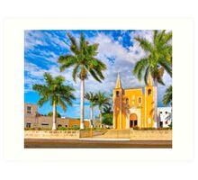 Iglesia del Barrio de Santa Ana - Historic Mérida Mexico Art Print