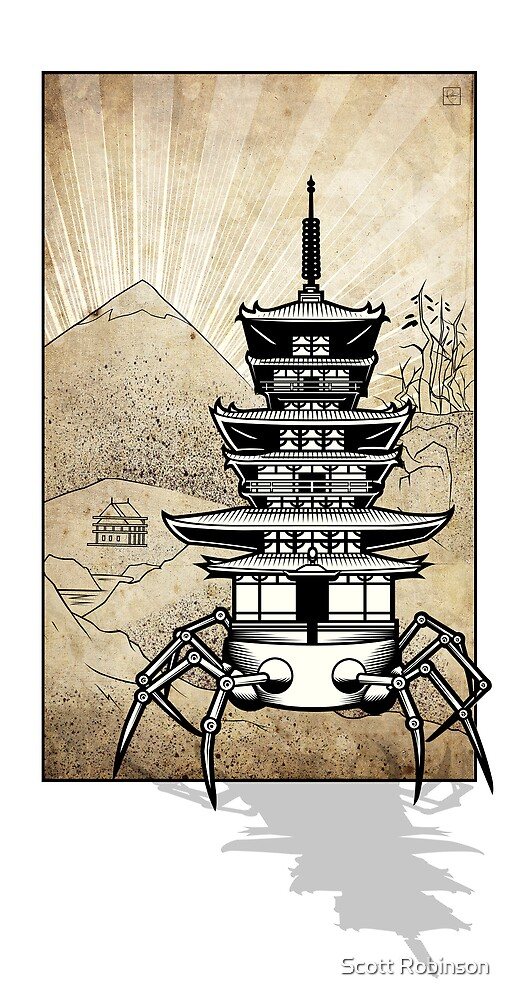 Pagoda walker by Scott Robinson
