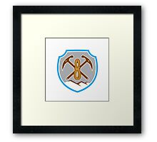 Mountain Climbing Mountaineering Pick Axe Rope Framed Print