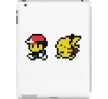 Ash & Pikachu Pixel Design - Gameboy iPad Case/Skin