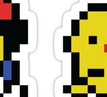 Ash & Pikachu Pixel Design - Gameboy Sticker