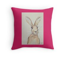 Hop Hare-Ears Pricked Up Throw Pillow
