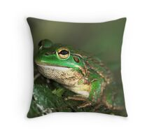 The Southern Bell Frog Throw Pillow