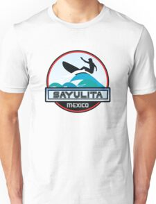 SURFING SAYULITA MEXICO SURF SURFER SURFBOARD BOOGIE BOARD MX Unisex T-Shirt