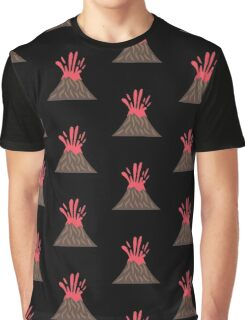 Volcano Eruption , Disaster Graphic T-Shirt