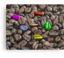 colorful coffee beans Canvas Print