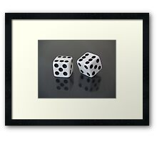 Double six Framed Print