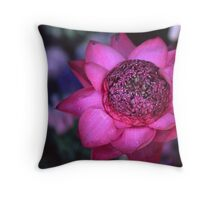 The power of the lotus Throw Pillow