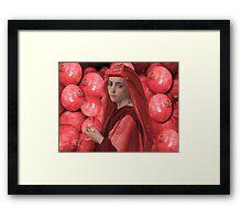 ๑۩۞۩๑THE LOVE OF POMEGRANATE GIRL HOLDING POMEGRANATE ๑۩۞۩๑ Framed Print