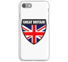 Great Britain Flag and Shield  iPhone Case/Skin