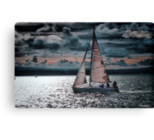 Red Sails In The Sunset Canvas Print