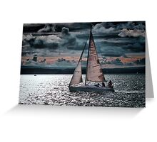 Red Sails In The Sunset Greeting Card