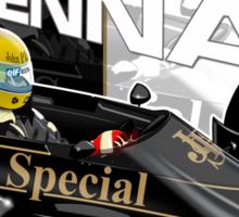 Ayrton Senna - F1 1986 Sticker