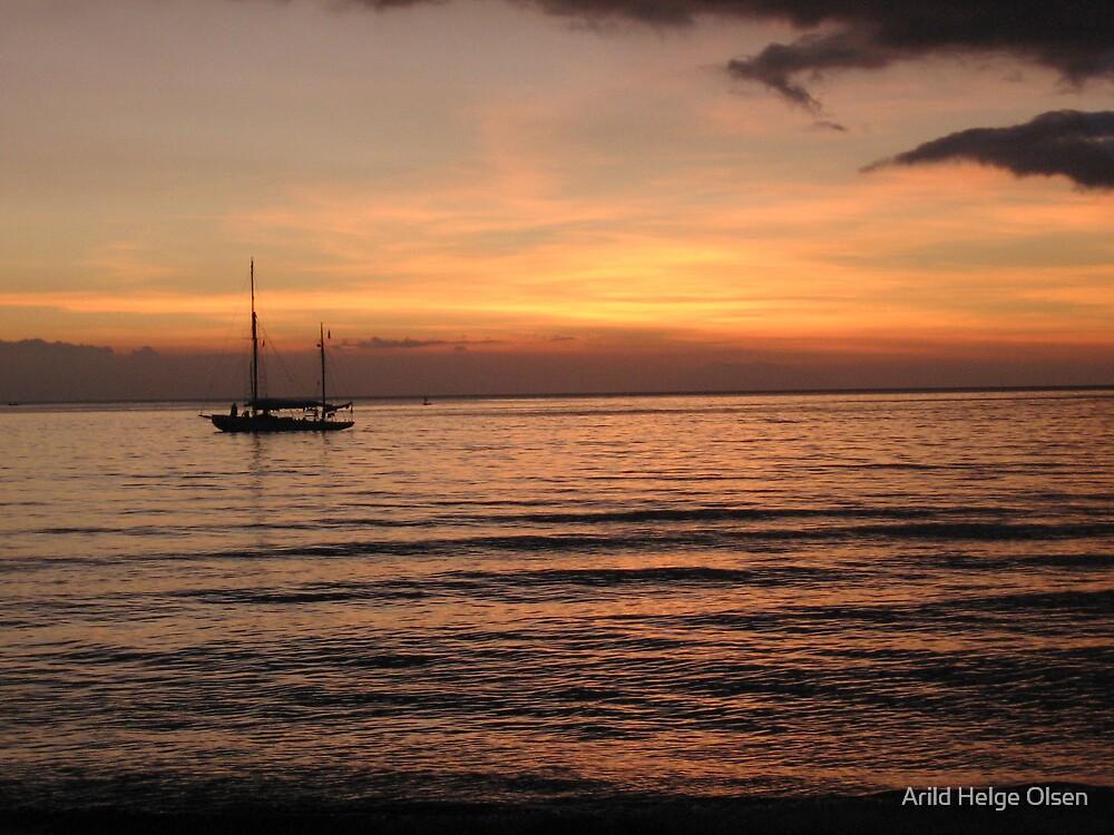 Sunset Lovina III by Arild Helge Olsen