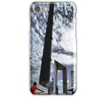 Kid on Puente del Planetario iPhone Case/Skin