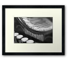 The Old Typewritter III Framed Print