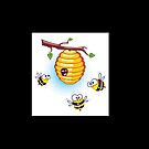 Honey Bees Lookin' for a Home by KpncoolDesigns