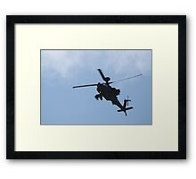 Apache Helicopter. Framed Print