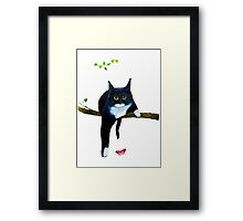 Cute Tuxedo Cat Framed Print