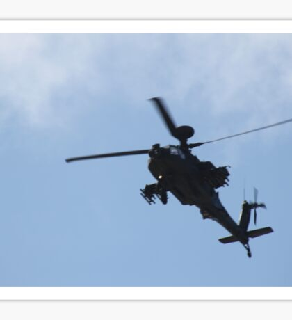 Apache Helicopter. Sticker