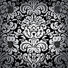 Floral Elegance - Silver/Black Fade Pattern 6 by Ra12