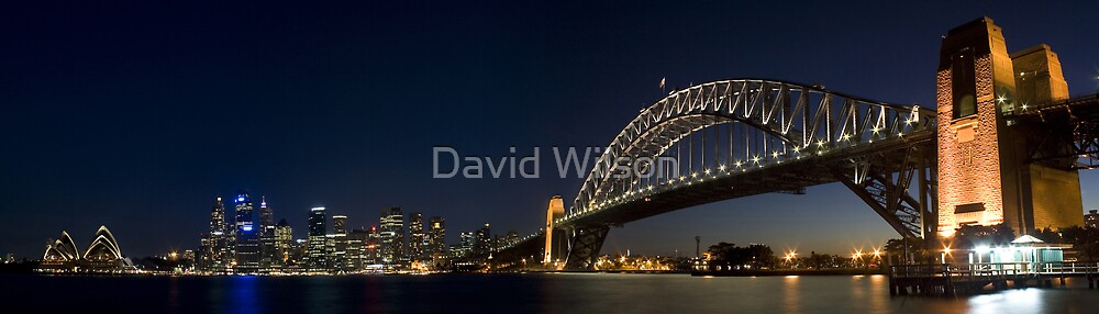 Sydney Harbour at Night by David Wilson