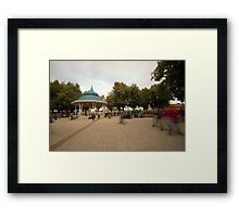 Plaza Valdivia Chile Framed Print
