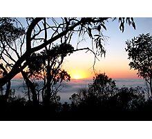 Sunrise - Mt Barker Summit - Adelaide Hills Photographic Print
