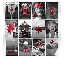 12 Red Selectives Poster