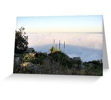 Fog Blanket - Mount Barker Greeting Card