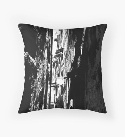 An Alley in Lamu Throw Pillow