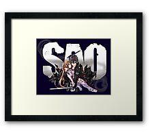 Asuna and Kirito Framed Print