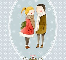 Lovers In The Snow by Judith Loske