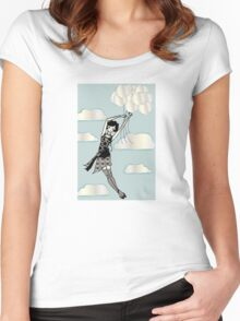 Floating Flapper Women's Fitted Scoop T-Shirt