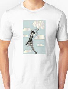 Floating Flapper Unisex T-Shirt