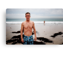 Morning swimmer Canvas Print