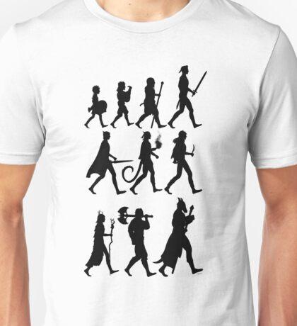 RPG Races Chart - Black Unisex T-Shirt