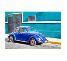 Love Bug On The Streets Of Mexico Art Print