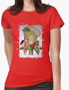 Winter Wonderland Bird Sitting On Vintage Street Lantern T-Shirt