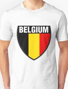 Belgium Flag and Shield T-Shirt