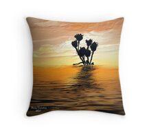 Reeds at Sunset Throw Pillow