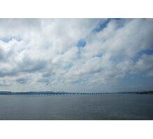 Bridge over river Tay near Dundee - Scotland Photographic Print
