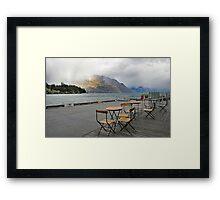 Heavy Cloud over Lake Wakatipu Framed Print
