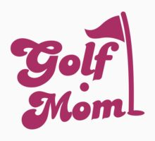 GOLF mom with flag and golf ball by jazzydevil