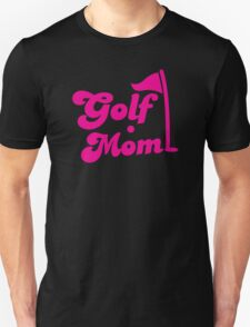 GOLF mom with flag and golf ball Unisex T-Shirt
