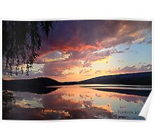 sunset @ the enchanted willow Poster