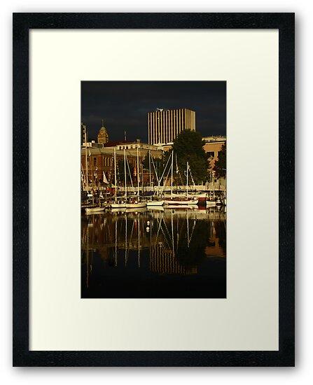 Wooden Boat Reflections #4 by Noel Elliot