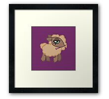 Knitting Sheep - Natural Framed Print