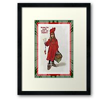 Wishing You Health Wealth and Happiness Greeting Card Framed Print
