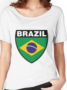 Brazil Flag and Shield Women's Relaxed Fit T-Shirt